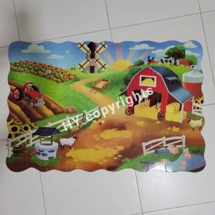 50pcs Farm Animal Giant Floor Puzzle 2.7ft x 1.8ft