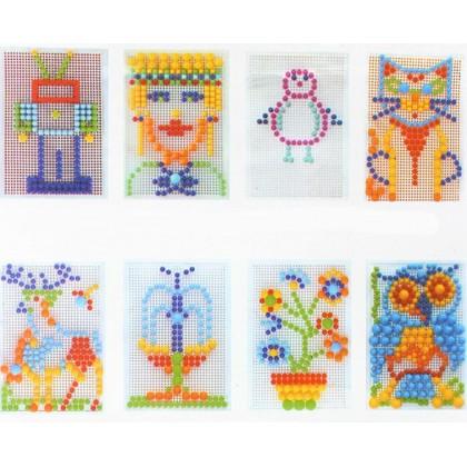 296Pcs Mushroom Nails Jigsaw Puzzle Game Creative Mosaic Pegboard