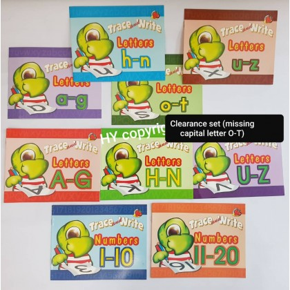 Activity Book trace & write (turtle set) Missing Letter O-T
