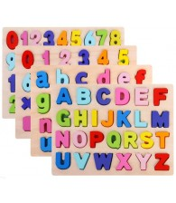 Wooden 3D Alphabet Digital Teaching Board