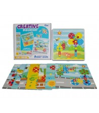 Creative Discovery DIY Build Design Mosaic Puzzles Play Toys Set with Screw Nuts Tools