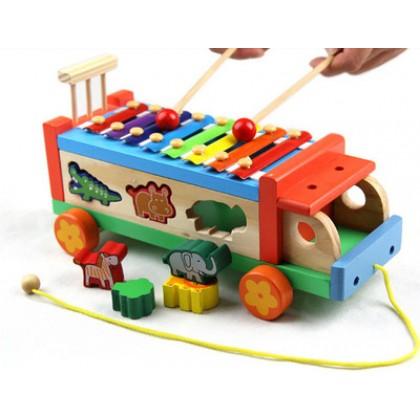 Animal Xylophone Track 多功能动物拖拉八音琴