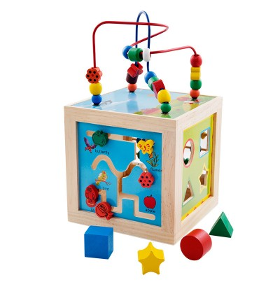 Defect 5 in 1 Wooden Learning Cube