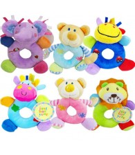Animal Round Rattles Doll