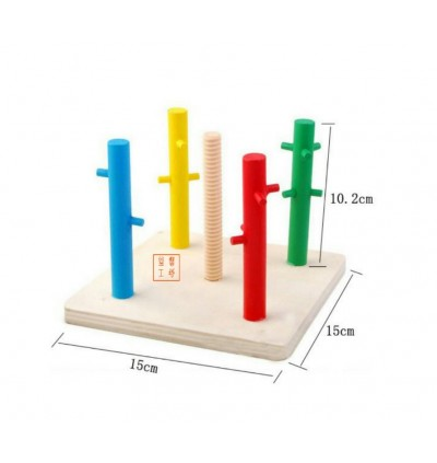 Wooden Five columns Geometry Shape Sorting Plate