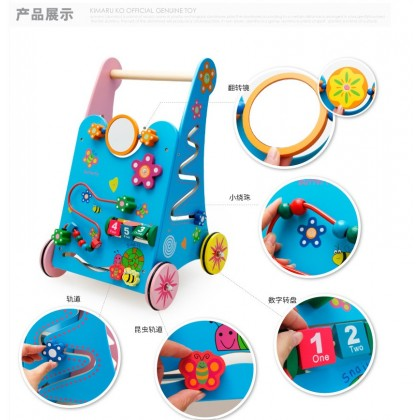 (Defect) Wooden Color Multi-functional Games Building Blocks Walker Toys 35*34*53cm sale