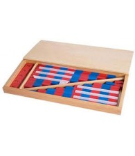 Small Number Rod with Box Montessori Mathematics Material Blue Red Color