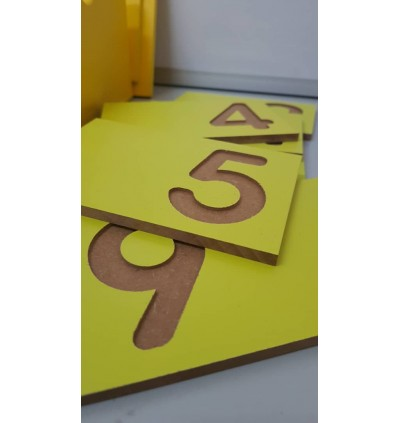 Wooden Number Tactile 0-9