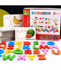 English Letter Identification Card Vege Fruits