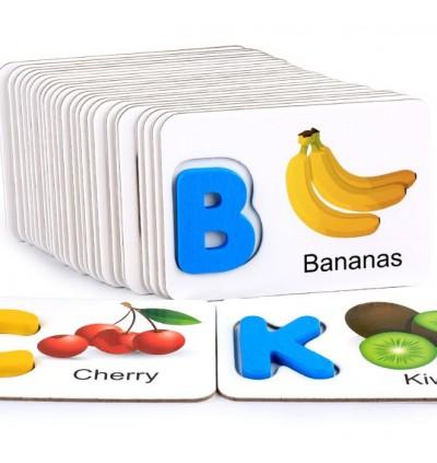 English Letter Identification Card Vege Fruits