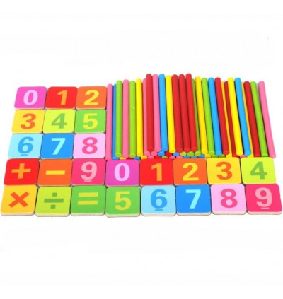 Wooden Counting Stick Arithmetic Preschool Mathematics Learning