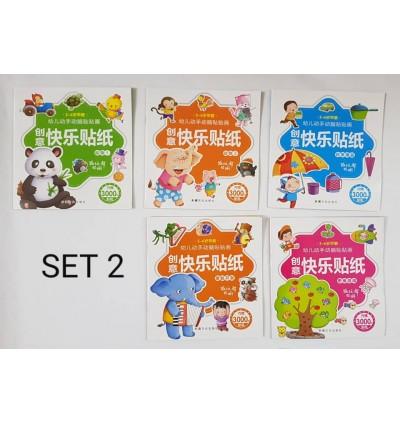 Creative Sticker Book Children Enlighten Sticker Game Set of 5