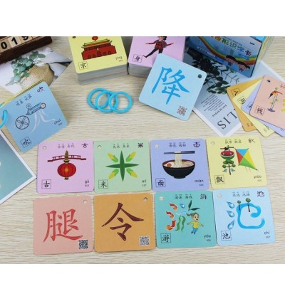 Pictographic Chinese Word Recognition Pattern Card with QR Code 200words
