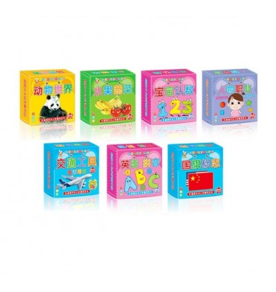 Tear-Free Thick Baby Early Learning Recognition Flash Card