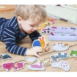 Wooden Cut Out Shapes Puzzle