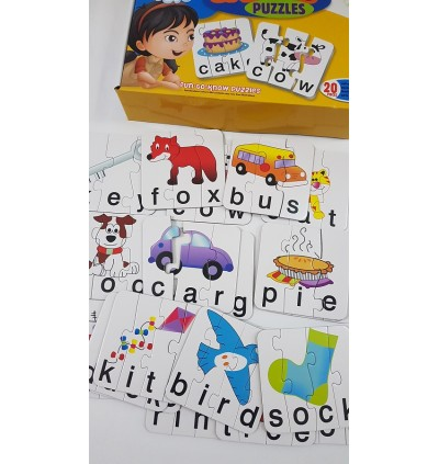Match It Spelling First Word Shapes Self Correcting Puzzle Set