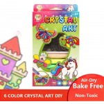 Crystal Art DIY 6 Colors Bake Free Air Dry Set