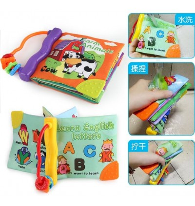 Baby Soft Book cloth book with bb sound & teether