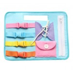 Baby Life Skill Training Board Button Zip Buckle tie