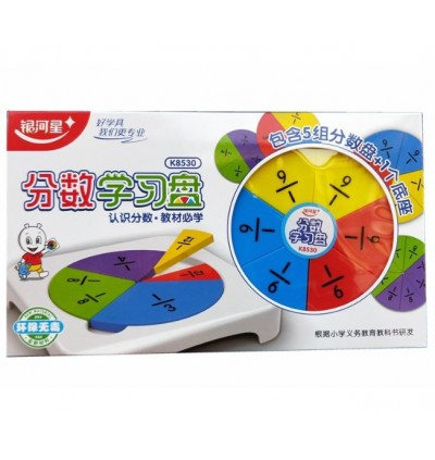 Learning Fraction Math Plate