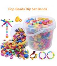 DIY Pop Beads Set Plastic Jewelry Puzzle Kit Girls Gift