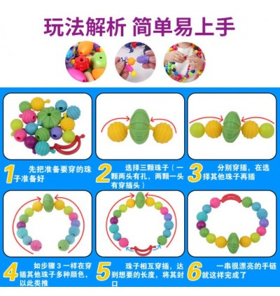 DIY Pop Beads Set Plastic Jewelry Puzzle Kit Girls Gift