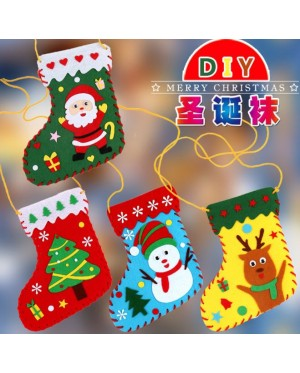 Creative Non woven Fabric Christmas Hats DIY Christmas Ring Christmas Socks