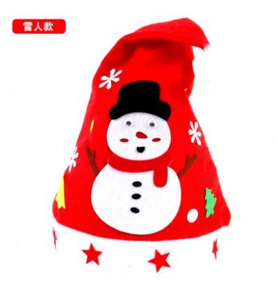 Creative Non woven Fabric Christmas Hats DIY Christmas Ring Christmas Socks (min 5)