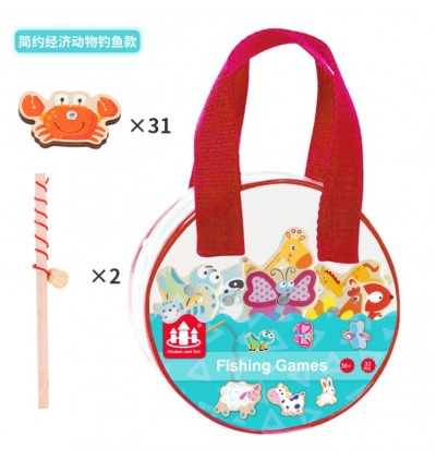 Magnetic Fishing Game in Bag Animal Sea Life Recognition