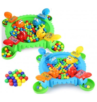 Hungry Frogs Eating Beans Brain board Games Feeding Swallowing Beads