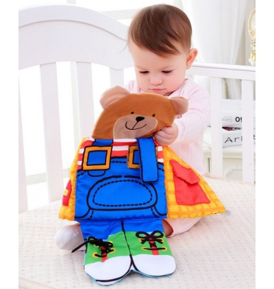 Multipurpose Life Skill Cloth Bear Buckle Button Zip Tie