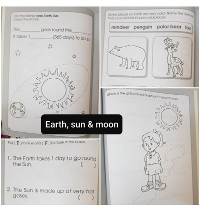 Intro to Science Set of 5 Free 1 Math Book - Clearance book with slight peel on the corner & Yellow Spots
