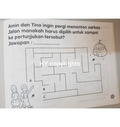 Tommy Sticker Book And Bahasa Math Workbook Clearance Set