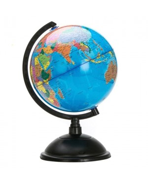 20cm Ocean World Globe Map With Swivel Stand Geography Educational Toy