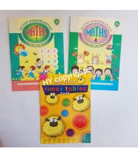Active Math 1 & 4 FREE Time Table (Set of 3)