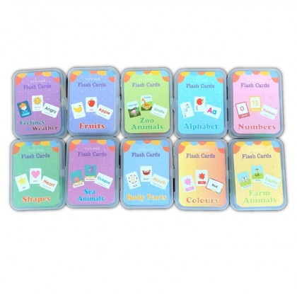 Small Flash Cards Set in Storage Box