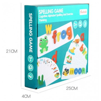 Wooden Cardboard English Cognitive Alphabet Spelling Game