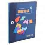 Magnetic Wooden Tetris Puzzle Jigsaw Tangram