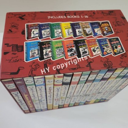 Diary Of A Wimpy Kid with Slipcase (16Books sets)