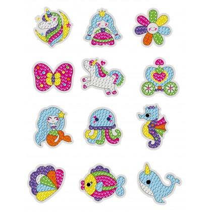 Gem Diamond Stickers Kit for Kids 5D Diamond Art Mosaic Stickers